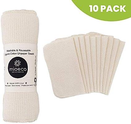 Mioeco Toallas de papel reutilizables lavables – Toallas de papel ...
