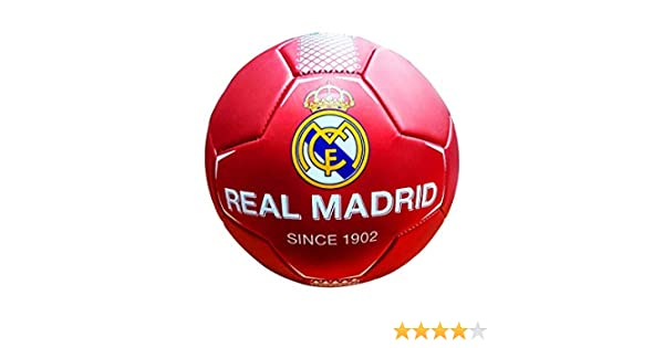REALMADRID Real Madrid Balón de fútbol Unisex niños, Rojo Talla 5 ...