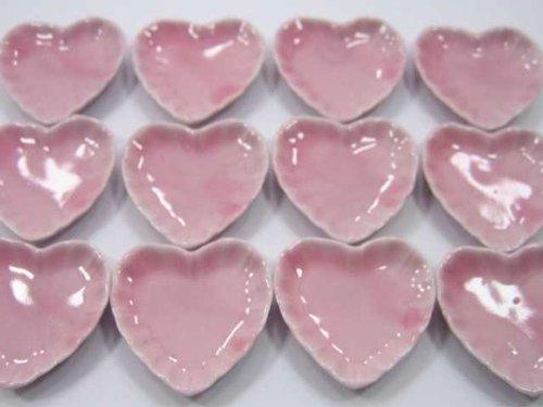 12-pink-color-heart-plates-kitchen-dish-doll-house-miniature-ceramic-35cm-4424