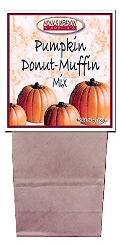 - Monks Meadow Pumpkin Donut Muffins - Baking Mix in 14 oz bag with easy to make instructions on Box (Muffins & Donuts, Pumpkin Donut Muffin)