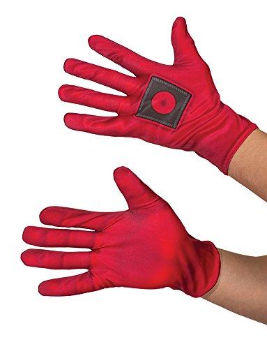 2016 Deadpool Costume (Rubie's Costume Co. Men's Deadpool Costume Gloves, Red, One)