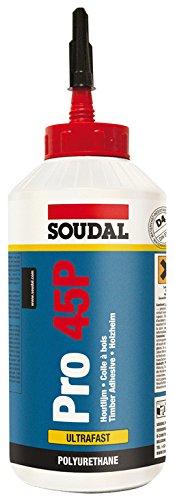 Soudal Pro 45P poliuretano PU resistente all' acqua veloce asciutto legno colla 750 g