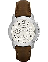 Men's FS4839 Grant Chronograph Watch With Brown Leather Band