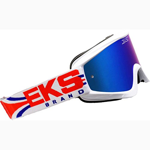EKS Brand GO-X Limited X Adult Dirt Bike Motorcycle Goggles Eyewear - Red/White/Blue / One Size Fits All