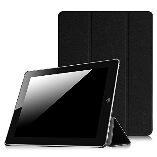 Fintie iPad 2/3/4 Case - Lightweight Slim Tri-Fold Smart Stand Cover Protector Supports Auto Wake/Sleep for iPad 4th Generation with Retina Display, iPad 3 & iPad 2 - Black - Hardback Cover Case