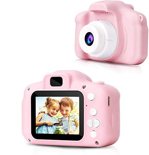 Shehzanand Digital Cameras for Girls Birthday Toy Gifts 4-12 Year Old Kid Action Camera Toddler Video Recorder 1080p IPS 2 Inch Shockproof