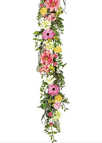Amazon Sullivans Sul Mixed Silk Flower Garland In Assorted