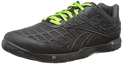 Reebok Men's R Crossfit Nano 3.0 Training Shoe, Black/Gravel/Green Smash, 7 M US