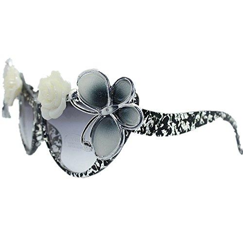 Lunettes KOMEISHO Brillants Summer Sunglasses La À Style la UV Yeux Lady's Cat Nuances Protection Beach Papillon Main Rose nouveauté Designer Et Gothique Soleil Blanc De S1r7fSwqx6