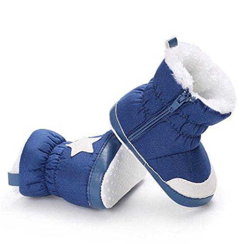 Baby Stiefel, BZLine® Baby Girls Schnee Stiefel Kleinkinder Babyschuhe Schuhe Blau