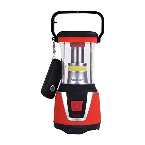 VIBELITE 500LM Outdoor LED Camping Lantern with Flashlight,Portable for Hiking Emergencies,Red