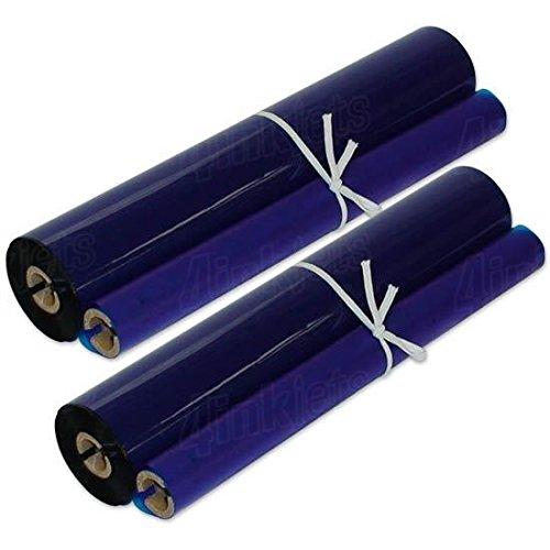Print Ink Ribbon Refill - Compatible Panasonic KX-FA136 Fax Ribbon Roll 2 Pack