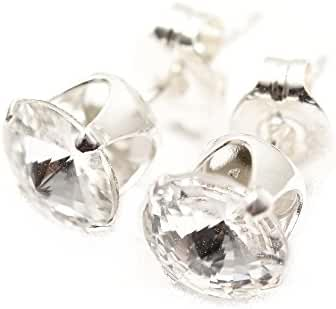 925 Sterling-silver stud earrings expertly made with Supernova sparkling crystal from SWAROVSKI for Women.