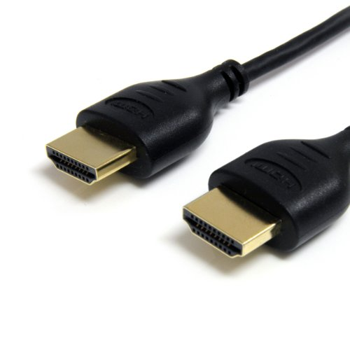 (StarTech.com HDMIMM3HSS 3-Feet Slim High Speed HDMI Cable with Ethernet - HDMI - M/M)