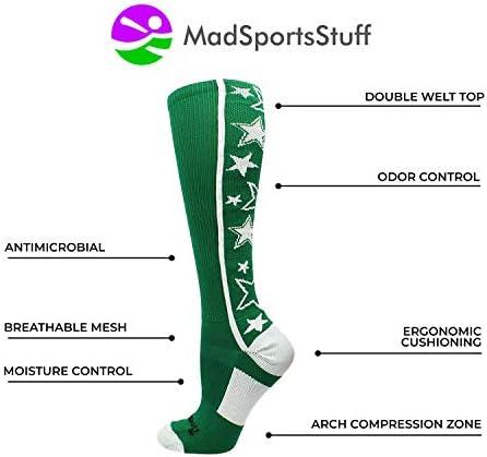 MadSportsStuff 靴下 クレイジーソックス ふくらはぎ一面の星 (選べるカラー)
