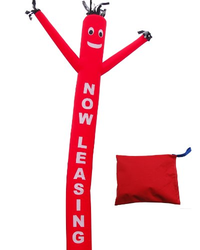 Lookourway  Now Leasing  Air Dancers Inflatable Tube Man Attachment  20 Feet  Red With White Letters  No Blower