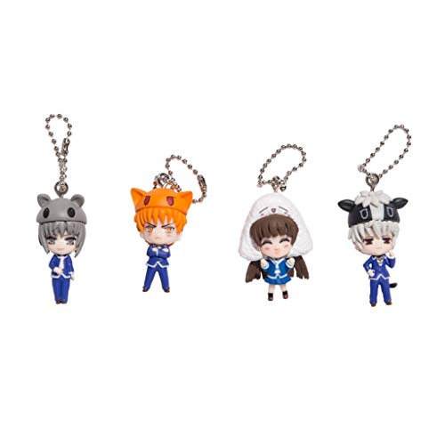 Back to School Fruits Basket Figure Full Keychain Set Loot Crate Anime Exclusive