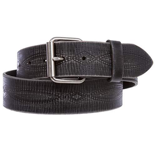 Embossed Casual Belt - 1 3/4
