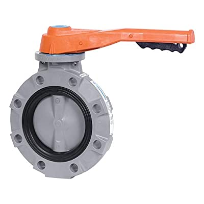 "Hayward BYV22030A0VL000 Series BYV Butterfly Valve, Lever Operated, CPVC Body, CPVC Disc, VITON and FPM Seals, 3"" Size from Hayward Industries"