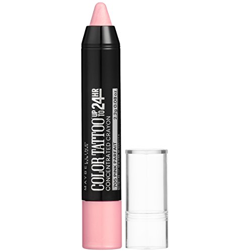 Maybelline New York Eyestudio ColorTattoo Concentrated Crayon,705 Pink Parfait, 0.08 oz. -