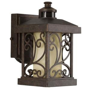 Progress Lighting Cypress Collection Forged Bronze 1-light Motion Sensor Wall Lantern (Motion Detectors Collection)