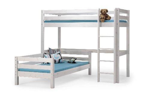 Steens Etagenbett Weiß : Steens furniture 7331006013000f eckbetten tom hochbett mit