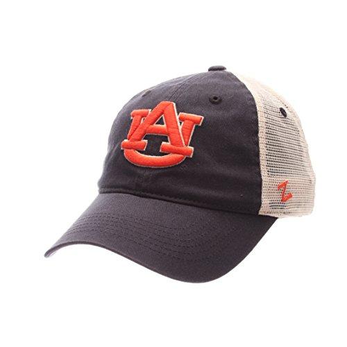Auburn Tigers Hat Cap (Zephyr NCAA Auburn Tigers Adult Men University Relaxed Cap, Adjustable, Team Color/Stone)
