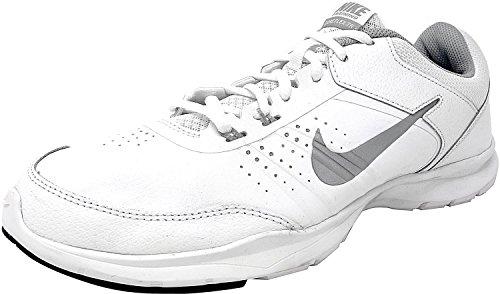 Nike Womens Core Flex 3 Scarpe Da Ginnastica, Sneakers (724866 101) Bianco / Argento Metallizzato-nero