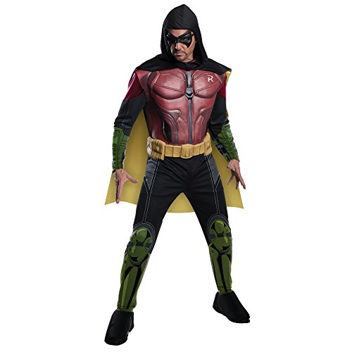 [Rubie's Costume Men's Batman Arkham City Deluxe Muscle Chest Robin, Multicolor, X-Large] (Robin From Arkham City Costumes)