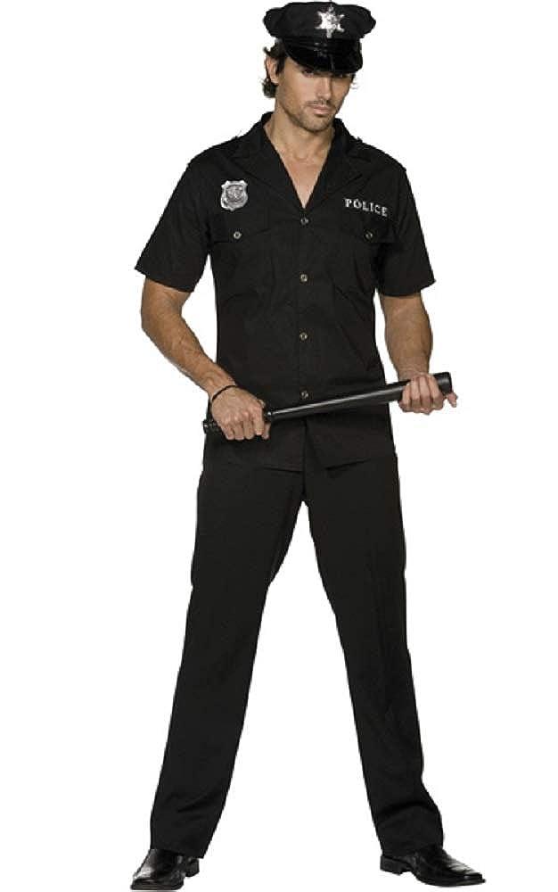 Fancy Me Erwachsene Herren Sexy Polizei Polizeimann Polizeimann Polizeimann Polizist Rettungsdienste Uniform Kostüm Kleid Outfit b71183
