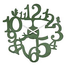 Koziol Wall Clock, Forest Green, 32x450x445 mm