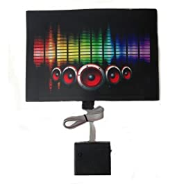 Sound Activated Flashing Multi Color Speaker LED Panel with Sensor