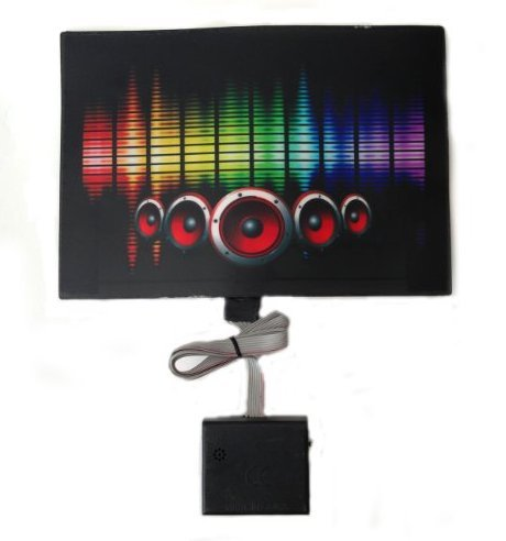 Sound Activated Flashing Multi Color Speaker LED Panel with -