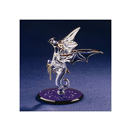 Dragon with Stars Crystal Accented Glass Figurine ()