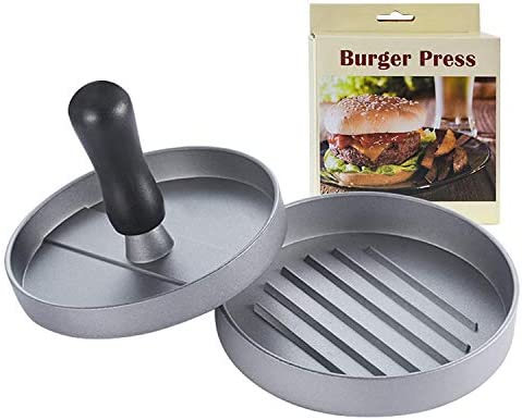 Perfect Hamburger Mold Ideal for Stuffed Burgers and BBQ 4.5 Inch Large Burger Press Essential Kitchen /& Grilling Accessories Non-Stick Aluminum Hamburger Patty Maker