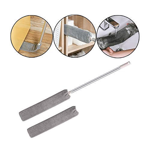 Dust Cleaner, Funiup Retractable Gap Dust Cleaning Artifact, Good Grips Microfiber Cleaning Brush, Telescopic Dust Removal with Replacement Cloth, Hair, for Furniture Gaps from Funiup-Home&Garden