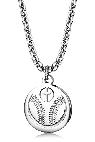 FIBO STEEL Stainless Baseball Necklaces