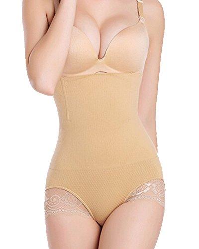 Gotoly Women's Thigh Slimmer Butt Lifter Shaper Seamless Tummy Control Hi-Waist (3XL/4XL, Beige-1516)