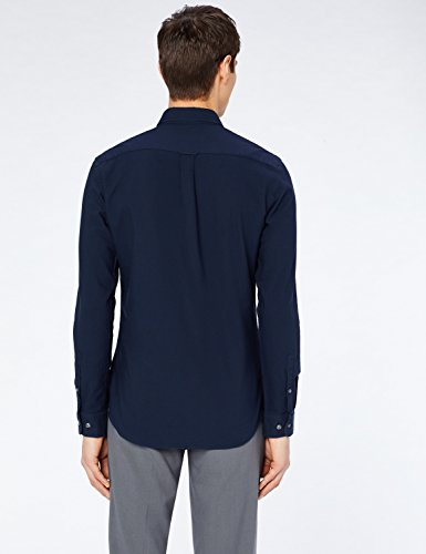 Fit navy Denim Uomo Camicia Blu Cotone Meraki Slim In nxZqIwUCRp