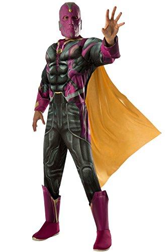 Rubie's Costume Co Marvel Men's Captain America: Civil War Deluxe Muscle Chest Vision Costume