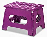 AG Folding Step Stool - The Lightweight Step Stool is Sturdy Enough to Support Adults and Safe Enough for Kids. Opens Easy with One Flip. Great for Kitchen, Bathroom, Bedroom, Kids or Adults.