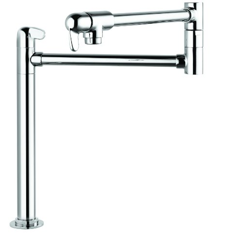 Hansgrohe 04060000 Allegro E Deck-Mount Pot Filler, Chrome ()