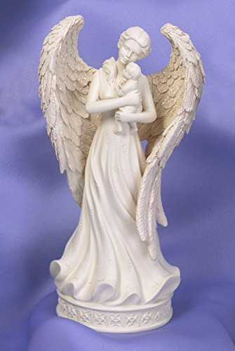 Angelstar Innocence Angel with Baby Keepsake Figurine, 8-Inch, Includes 5 Cubic Inch Space for Keepsakes Angel Star Figurine