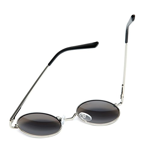 607b62aa9b Joopin-Round Retro Polaroid Sunglasses Driving Polarized Sun Glasses Men  Steampunk (Green Blue)