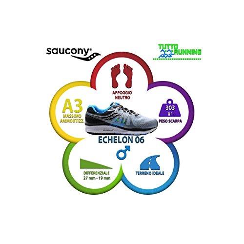 Chaussures de Homme Saucony Blu Echelon 6 Gris 4 Fitness Fog Blk qBtE7t