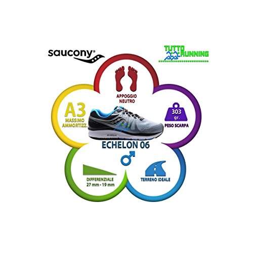 Echelon Fitness Chaussures Blu 6 Homme de 4 Blk Fog Gris Saucony xwZRqx