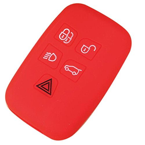 Key Cover For Silicone Land Rover Range Rover Discovery Evoque Car Key Cover Case ()