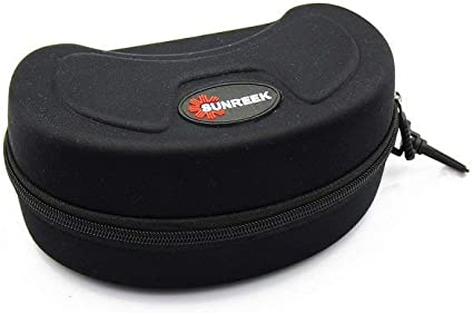 Snow Skiing Goggles with Black Hard Carrying Zip Case for Skiing Glasses Protector Pouch