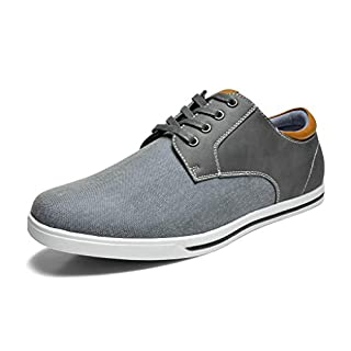 Bruno Marc Men's RIVERA-01 Grey Oxfords Shoes Sneakers Casual Dress Shoes Size 9 M US
