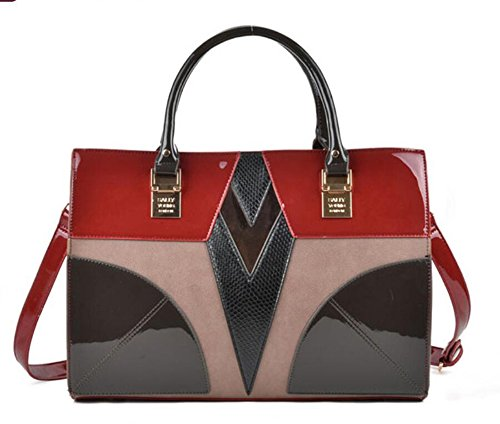 Pinchu Sac fourre-tout en blocs de couleurs, grand format, rouge